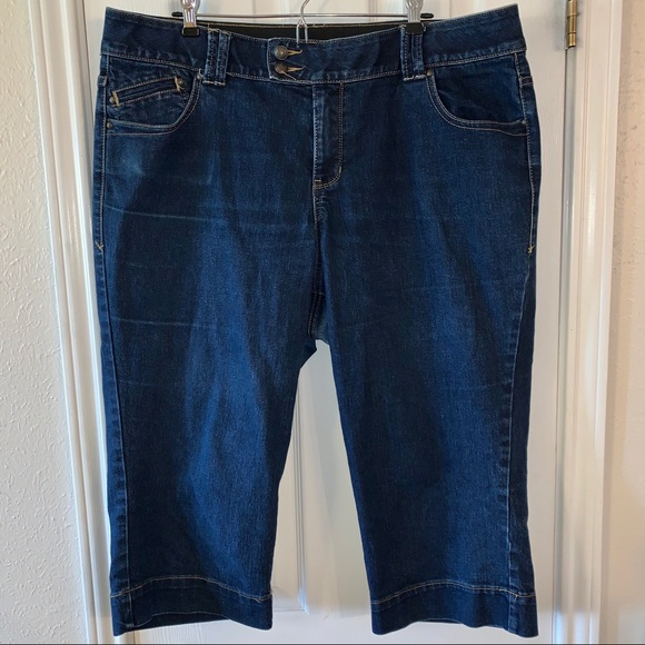 Lane Bryant Denim - Lane Bryant Stretch Denim Capris  Sz 18